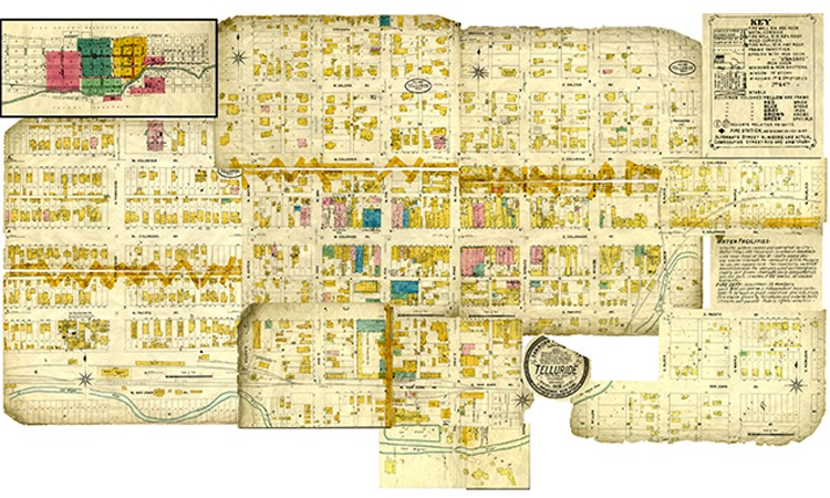 1908 Telluride Map